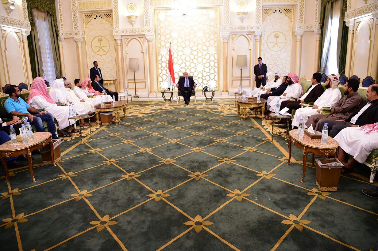 الرئيس:ترحيل أبناء تعز من عدن تصرفات مرفوضة