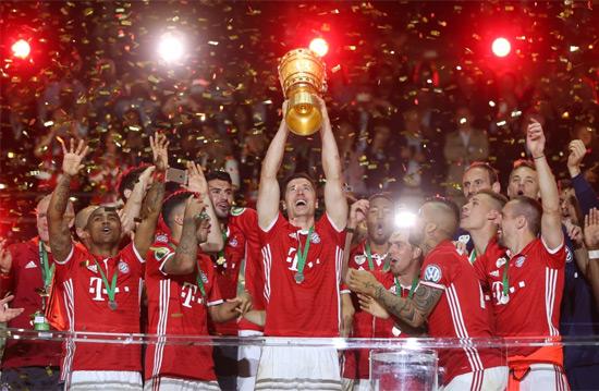 بايرن ميونيخ بطلا لكأس ألمانيا في وداع جوارديولا