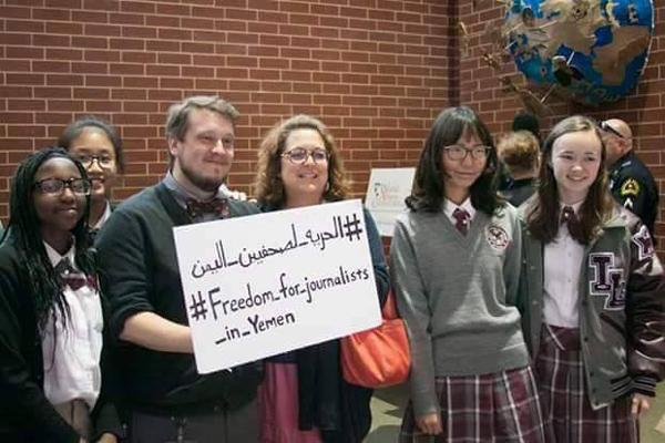 ناشطون أمريكيون يتضامنون مع الصحفيين المختطفين لدى الحوثي