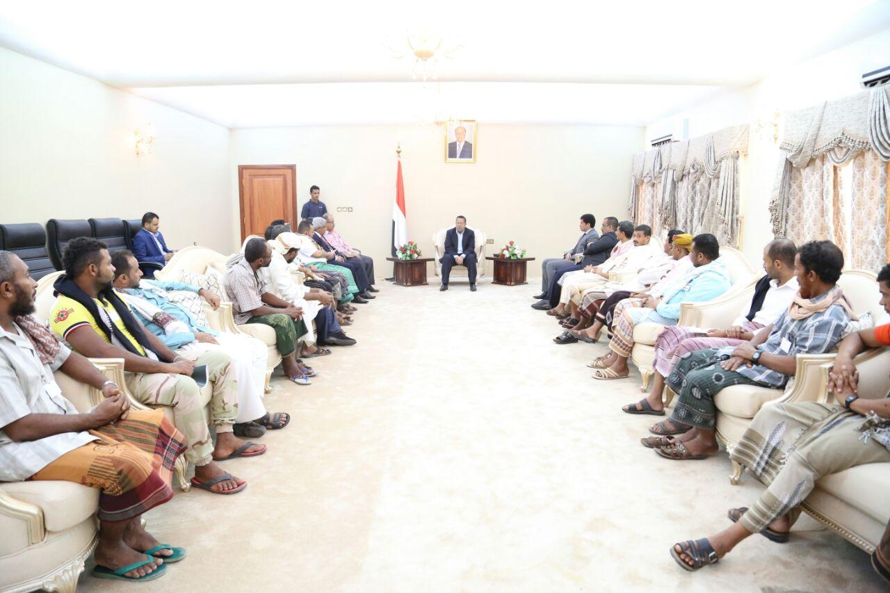رئيس الوزراء يشيد بمقاومة تهامة في مواجهة انقلاب ميليشيات الحوثي وصالح
