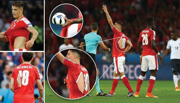 قمصان ممزقة تحرج لاعبين سويسرا والكرة تنفجر أثناء المبارة(فيديو)