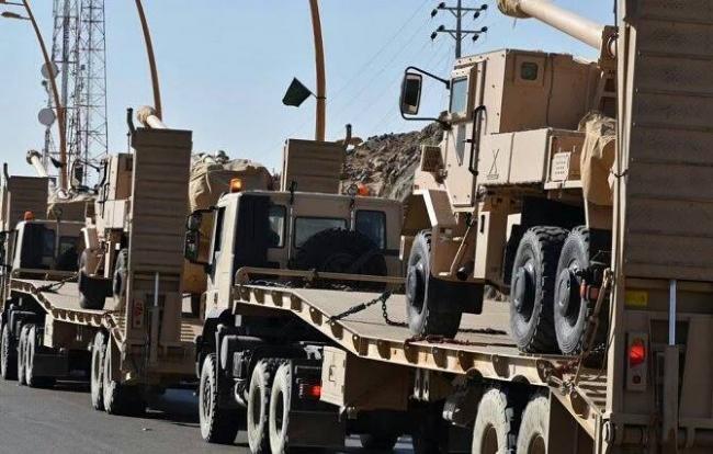 التحاف العربي يدفع بتعزيزات عسكرية باتجاه القبيطة شمالي محافظة لحج