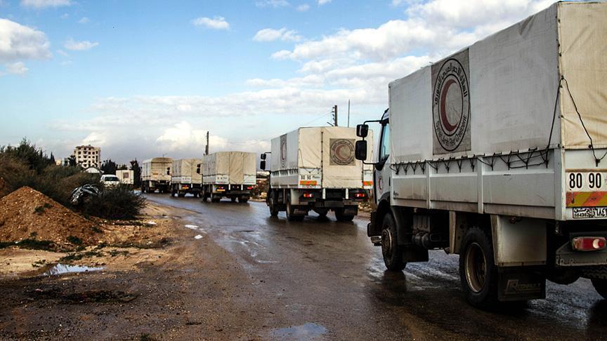 سوريا :أول قافلة مساعدات تدخل إلى داريا المحاصرة منذ 4 سنوات