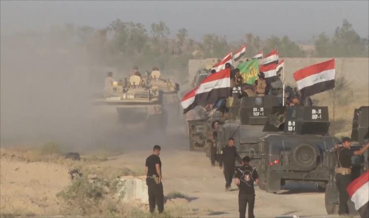 القوات العراقية تدخل مركز ناحية الصقلاوية شمال غرب الفلوجة