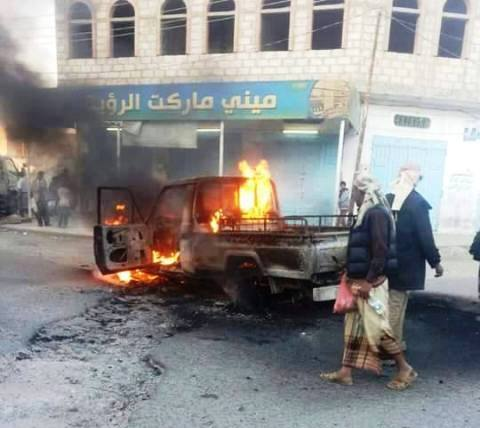 البيضاء: قتلى وجرحى من الحوثيين في معارك مع المقاومة الشعبية بذي ناعم