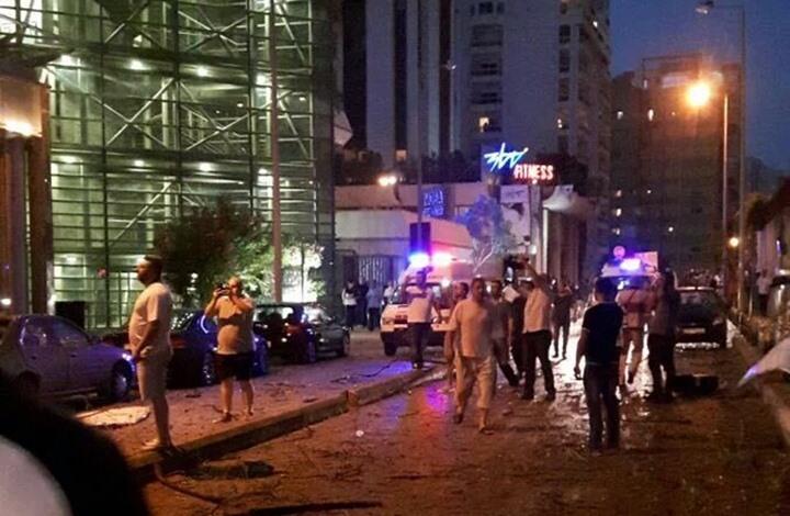 لبنان : إصابتان في تفجير إستهدف بنك في بيروت