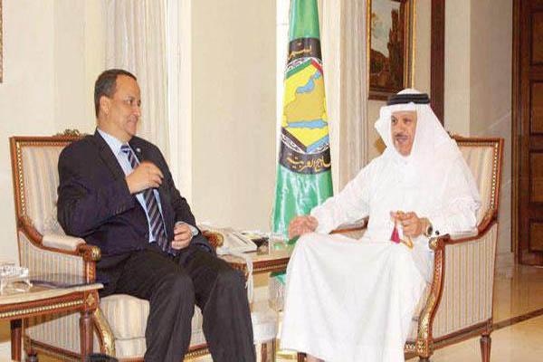 الزياني يجدد دعم دول الخليج لحل أزمة اليمن وفق القرار(2216)