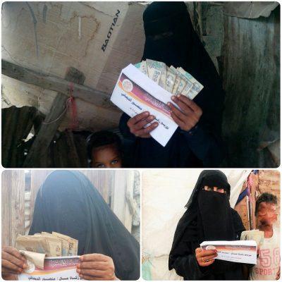 عشرات الفقراء والمحتاجين يستفيدون من مشروع توزيع زكاة المال والمعونات النقدية