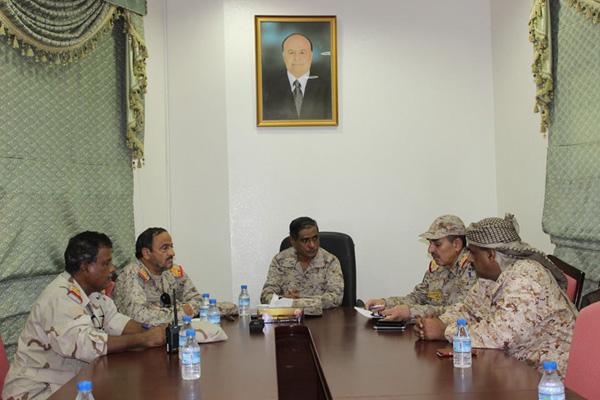 حضرموت: وفد عسكري رفيع يزور قيادة المنطقة العسكرية الثانية