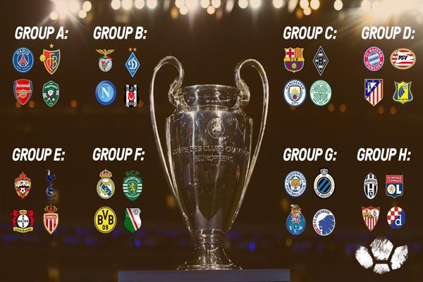 مواجهات قوية لبرشلونة ومانشستر سيتي وريال مدريد ويوفينتوس بأبطال أوروبا
