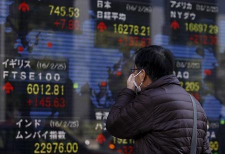 مؤشر نيكي الياباني يهبط متأثرا بارتفاع الين وتراجع النفط