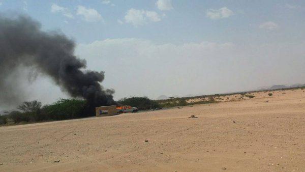 أبين: مقتل 4 من عناصر القاعدة في غارة جوية لطائرة بدون طيار