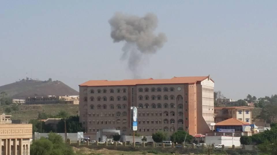 مقاتلات التحالف تقصف معسكرا للحوثيين شمال العاصمة صنعاء