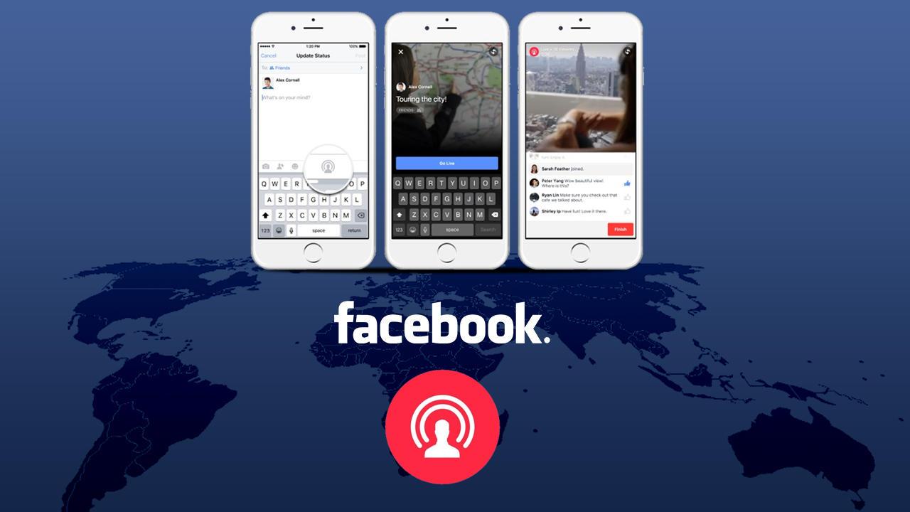 فيسبوك يطلق خدمة البث المباشر لجميع الحواسيب