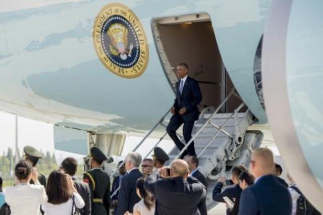 أوباما يصل الى الصين في زيارته الاخيرة كرئيس لحضور قمة مجموعة العشرين
