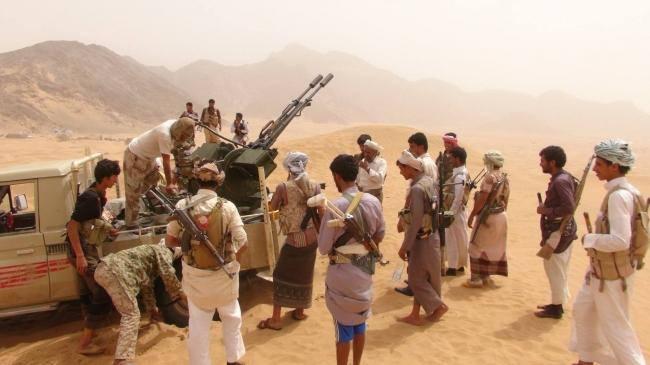 """استشهاد سبعة من جنود الجيش الوطني من ابناء مديرية الحشاء """"الضالع"""" في معركة تحرير الغيل"""