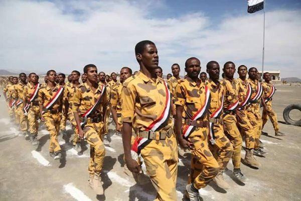 قوات الأمن الخاصة تحتفل بتخرج دفعة الشدادي بمحافظة مأرب