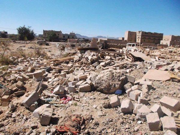 """البيضاء: الميليشيا تقصف بالكاتيوشا منازل المواطنين في قرية لقاح بمديرية """"القريشية"""""""