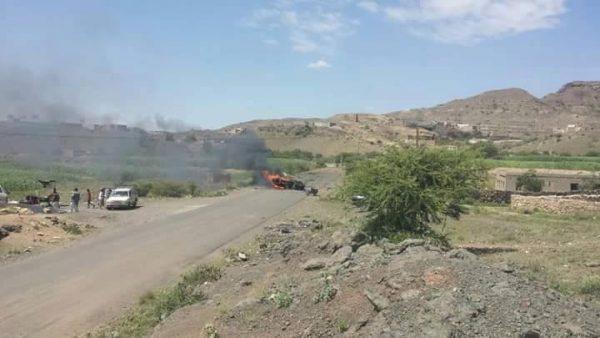 البيضاء : مصرع سبعة من مليشيا الحوثي وصالح وتدمير عربة عسكرية في قيفة برداع