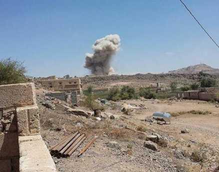 البيضاء: ثلاث غارات جوية تستهدف اللواء 139 مشاه برداع