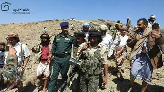 مدير شرطة البيضاء يتفقد جبهات المقاومة بالمحافظة
