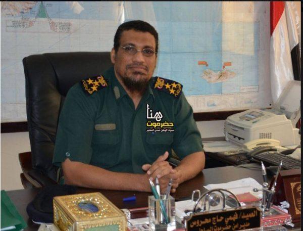 """القائد الجديد للواء 11 - حرس حدود بحضرموت يطالب بإعادة مهمة حماية """"منفذ الوديعة"""" إلى اللواء"""