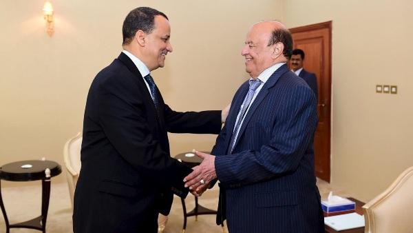 صحيفة سعودية: اجتماع حاسم بين ولد الشيخ وهادي في عدن