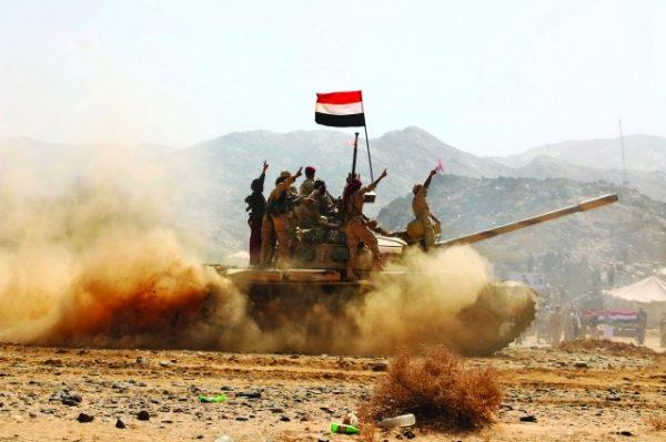 """نهم: الجيش الوطني والمقاومة الشعبية يحرران جبلي """"الأصبع"""" و""""المريحة"""" ومواقع أخرى شرق صنعاء"""