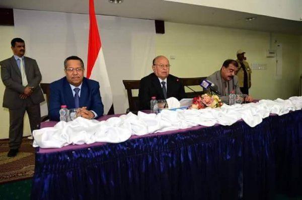 حضرموت: الرئيس هادي يحذر المجتمع الدولي من مغبة الالتفاف على المرجعيات الثلاث للسلام