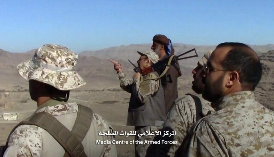 نائب رئيس الجمهورية يتفقد الوحدات المرابطة في جبهة نهم شرق العاصمة