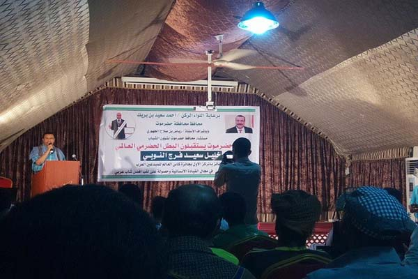 حضرموت: استقبال حافل للمهندس النوبي الفائز بجائزة المبدعين العرب