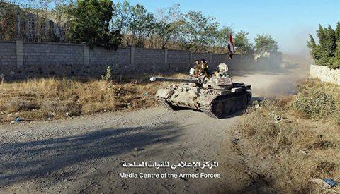 قوات الجيش تسيطر على مواقع جديدة في الوازعية غرب تعز