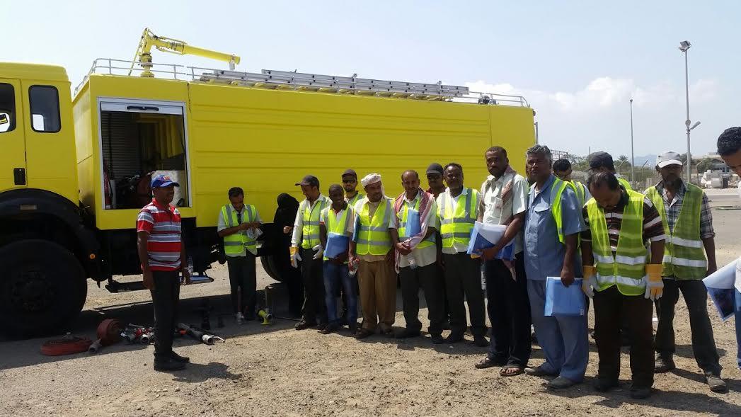 الأمن والسلامة المهنية ومكافحة الحرائق في دورة تدريبية بتموين الطائرات بعدن