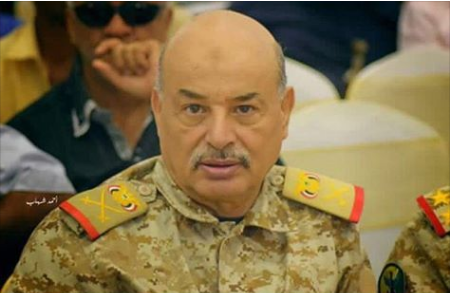 رئاسة الجمهورية تنعي استشهاد اللواء الركن احمد سيف اليافعي