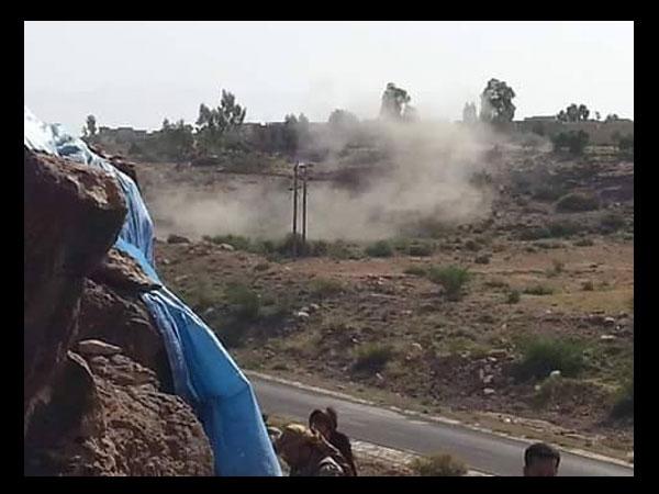 """الضالع: مليشيا الحوثي وصالح تقصف بالكاتيوشا عدد من القرى """"بمريس"""""""