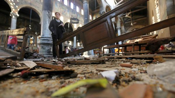 مصر: 17 قتيلا و40 مصابا حصيلة أولية لتفجير وقع داخل كنيسة