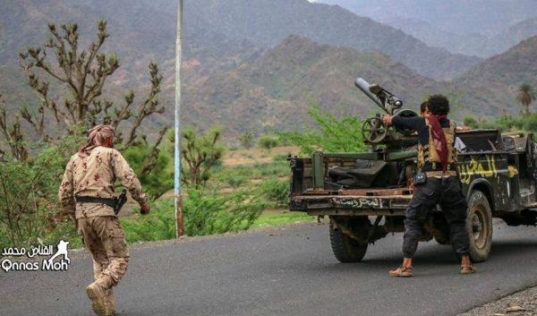 قوات الجيش تستعيد عدة مواقع في منطقة الكدحة غرب تعز