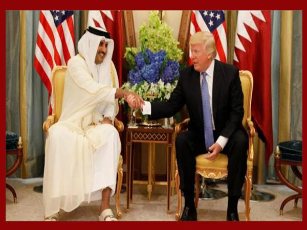 ترمب يبلغ أمير قطر استعداده لحل الأزمة الخليجية