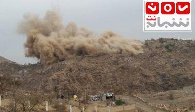 """الضالع: مليشيات الحوثي وصالح تدمر خزان """"مياه للشرب"""" بقرية سون في مريس"""