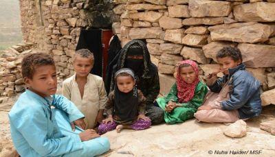 أم لسبعة أبناء في عمران تروي معاناتها بعد وفاة زوجها بالكوليرا
