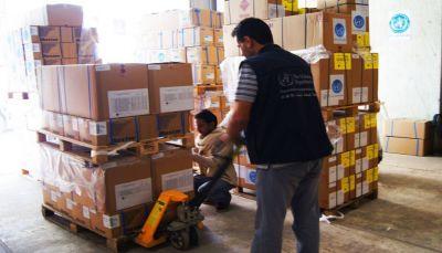 مأرب: مكتب الصحة يتسلم 30 طنا أدوية من مركز سلمان