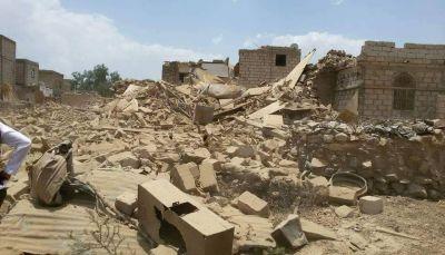 """لليوم الثاني.. ميلشيات الحوثي تقصف منازل الموطنين عشوائياً في """"ولدربيع"""" بمحافظة البيضاء"""