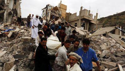 الصليب الأحمر يدين قصف التحالف منازل مدنيين بصنعاء