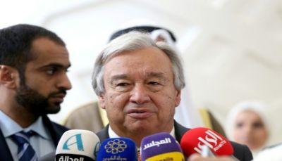 جوتيريش يقول إنه يشعر بقلق بالغ من التوتر بين السعودية ولبنان