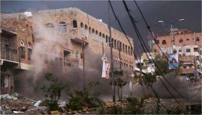 """مصدر طبي لـ""""يمن شباب نت"""": مقتل و إصابة 13 مدنيا - معظمهم أطفال - في قصف للمليشيا على حي سكني بتعز"""