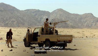 قتلى وجرحى حوثيين وإصابة اثنين من الجيش والمقاومة في غارة ومواجهات بشبوة