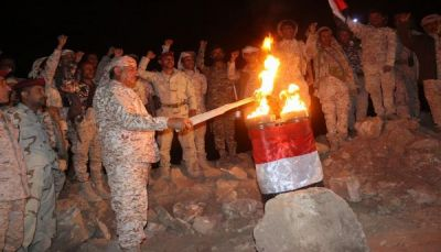 """قوات الجيش الوطني توقد الشعلة السبتمبرية من أعالي جبال """"نهم"""""""