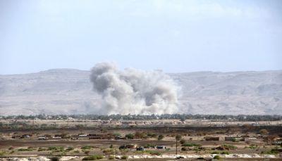 """البيضاء: غارات لمقاتلات التحالف تدمر تعزيزات عسكرية للحوثيين في """"ناطع"""""""