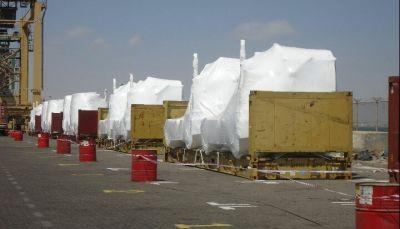 وصول 12 قاطرة ذات مواصفات حديثة الى ميناء عدن لتطوير محطة الحاويات