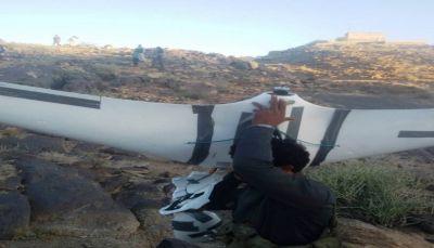 البيضاء: إسقاط طائرة استطلاع بدون طيار تابعه للحوثيين بمديرية القريشية